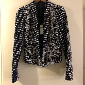 BCBG Maxazria patterned blazer